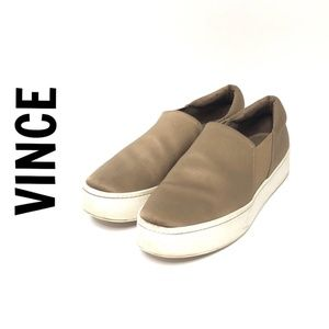 [VINCE] Warren Satin Platform Sneakers #906